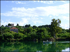 Butrint scene with boat (pic: Butrint Foundation)