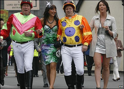 Racegoers at Aintree