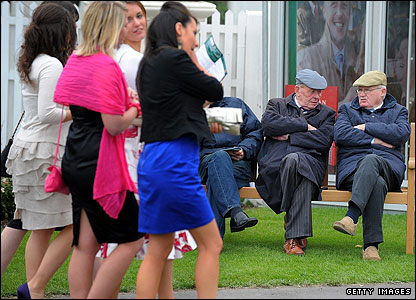 Racegoers young and old