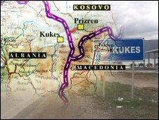 Kukes map
