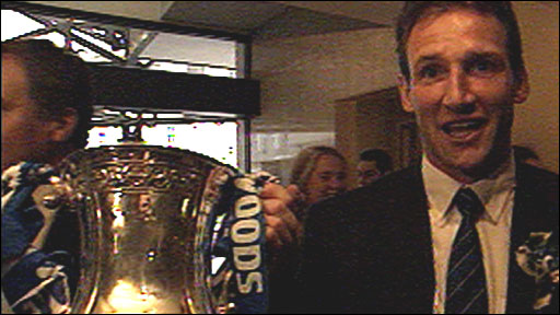 Dave Watson with the FA Cup