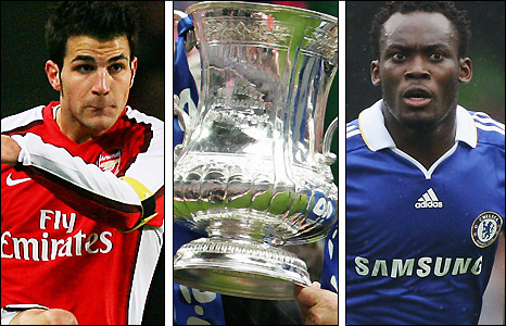Cesc Fabregas and Michael Essien