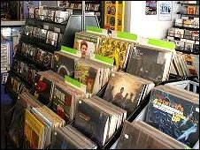 Vinyl records at Diverse Music, Newport