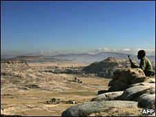 A soldier on sentry duty at Eritrea-Ethiopia border