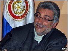 Paraguay President Fernando Lugo in Asuncion (20/04/2009)