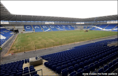 Cardiff City's new £30m stadium that will be the club's home from 2009