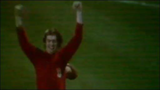 Leighton James celebrates his first Wales goal