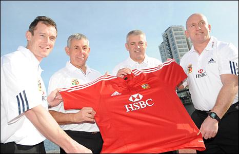 Lions coaches Rob Howley, Ian McGeechan, Warren Gatland and Shaun Edwards
