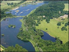 An ariel view of Sennowe Park in Guist, Norfolk (Photo: Mike Page)