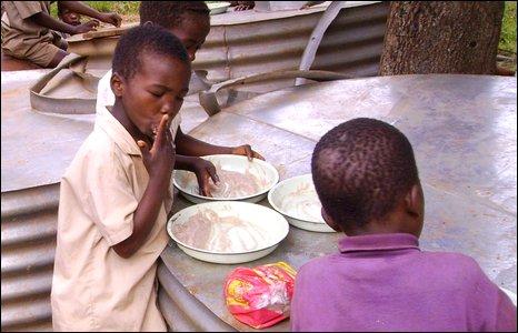 Pupils eating