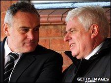 Dave Jones and Peter Ridsdale