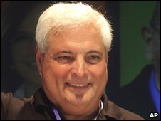 Panamanian President-elect Ricardo Martinelli