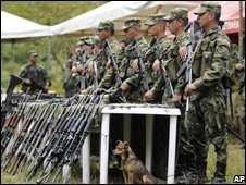 File photo of Colombian soldiers
