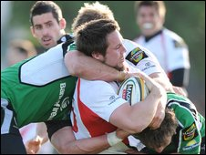 Isaac Boss played at full-back for Ulster