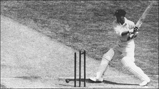 Don Bradman is dismissed for a duck in the second Test