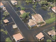 Floodwaters in the town of Araioses, Maranhao state. Photo: 12 May 2009