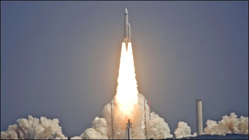 Ariane 5 lifts off from French Guiana (Getty Images)