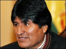 File photo of Bolivian President Evo Morales