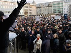 Icelandic demonstrators
