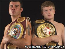Joe Calzaghe and Ricky Hatton