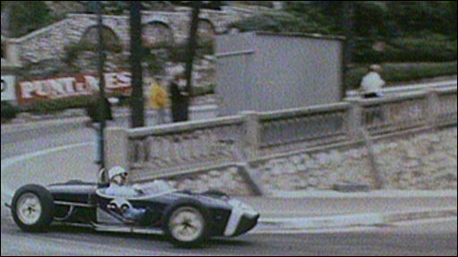 Stirling Moss in action at Monaco in 1961