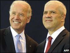 US Vice-President Joe Biden and Serbian President Boris Tadic, Belgrade 20/5/09