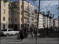 A street in Grozny