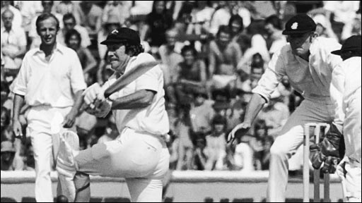 Ian Chappell bats against England at the Oval