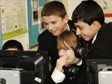 School Reporters at Brentside High School in London