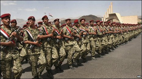 Unity Day parade in Sanaa