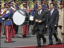 President Saleh at Unity day parade