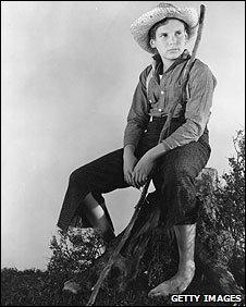 Child actor Jackie Coogan in Tom Sawyer