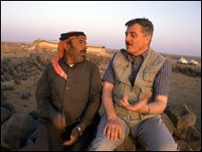 Mohammad Shahbaz and bedouin man
