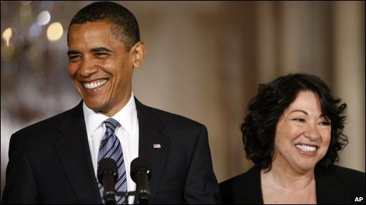 Barack Obama and Sonia Sotomayor