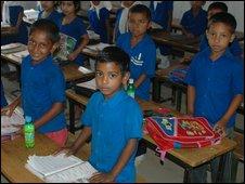 Pupils in a school in Dhaka