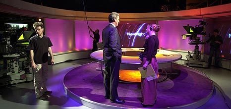 The Newsnight set