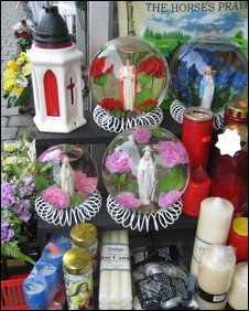 Souvenirs in a shop window