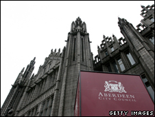Marischal College and Aberdeen City Council sign