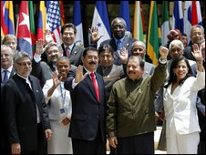OAS leaders in Honduras