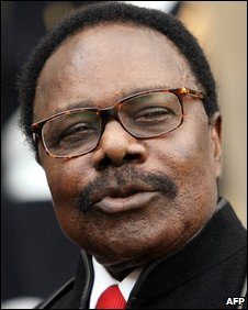 Omar Bongo Ondimba at the Elysee Palace in Paris, 2006
