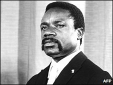 Undated file photo of Gabonese President Omar Bongo Ondimba