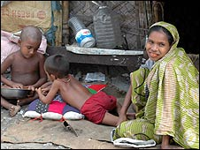 Poor family in Bangladesh