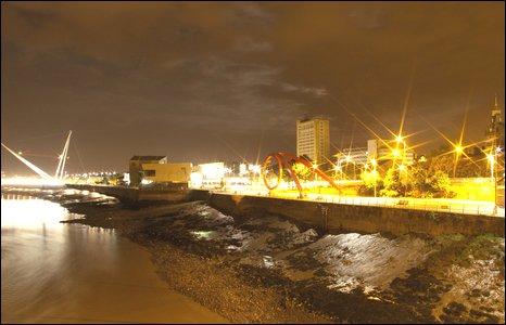 Newport riverfront