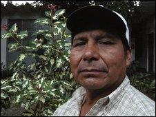 Awajun leader, Leoncio Calla