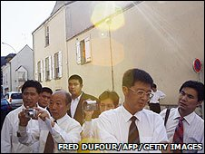 Chinese tourists in Montargis