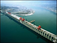 The Three Gorges Dam on the Yangtze River - file photo