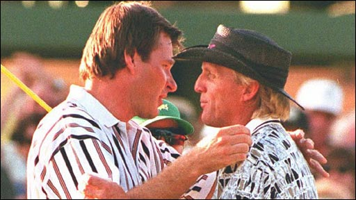 Nick Faldo and Greg Norman
