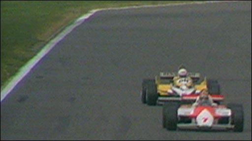 John Watson leads Rene Arnoux