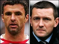 Gary Speed and Aidy Boothroyd