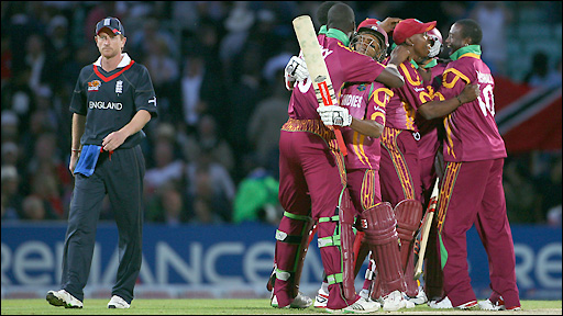 West Indies celebrate their victory